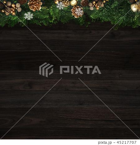 背景-クリスマス-もみの木-飾り 45217707