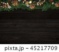クリスマス 背景 飾りのイラスト 45217709