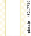 市松模様 和紙 和柄のイラスト 45217739
