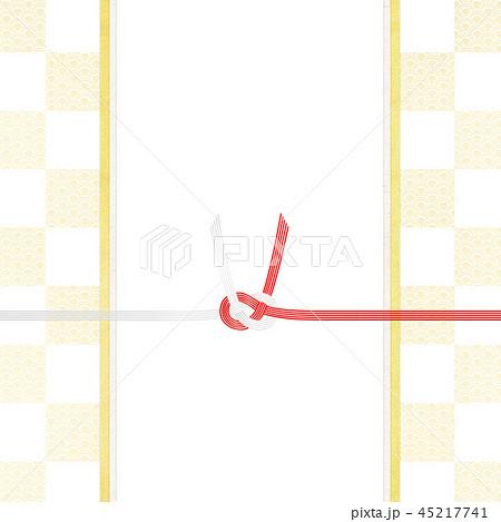 和-和風-和紙-和柄-背景-水引-のし紙-ご祝儀袋 45217741