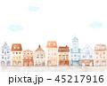 街並み 水彩画 住宅街のイラスト 45217916