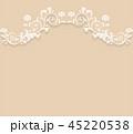 蔦模様のクラシックな背景素材 45220538