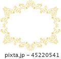 金の蔦模様のクラシックなフレーム 45220541