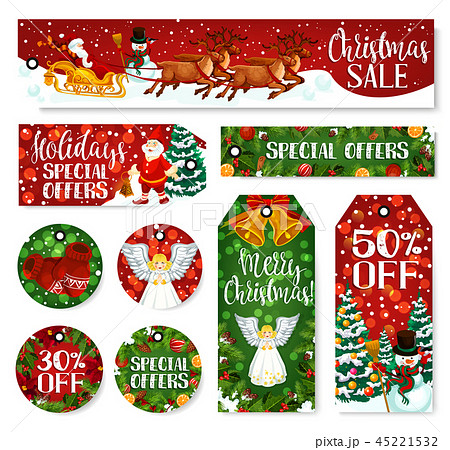 Christmas winter holiday sale tag and labels 45221532