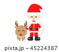 サンタクロース サンタ クリスマスのイラスト 45224387