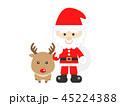 サンタクロース サンタ クリスマスのイラスト 45224388