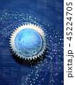 ビッグデータ サイバー 地球のイラスト 45224705