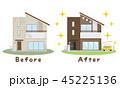 リフォーム 住宅 ビフォーアフターのイラスト 45225136
