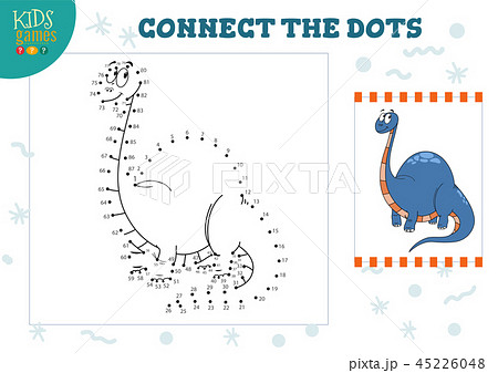 Connect the dots kids game vector illustration 45226048