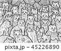 動物 アート マンガのイラスト 45226890