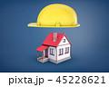 ヘルメット かぶと 工事のイラスト 45228621