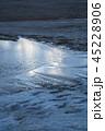 鳥取砂丘 冬 雪の写真 45228906