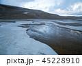 鳥取砂丘 冬 雪の写真 45228910