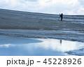 鳥取砂丘 冬 砂丘の写真 45228926