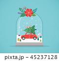 ワンダーランド 冬 お祭りのイラスト 45237128