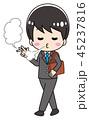 ベクター 男性 タバコのイラスト 45237816