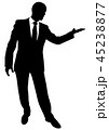 Silhouette of a business man in a suit standing 45238877