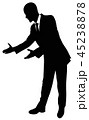 Silhouette of a business man in a suit standing 45238878