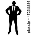 Silhouette of a business man in a suit standing 45238886