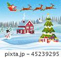 クリスマス 住宅 住居のイラスト 45239295