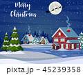 クリスマス あいさつ グリーティングのイラスト 45239358