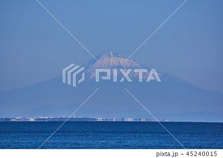 静岡県 駿河湾の蜃気楼と富士山 45240015