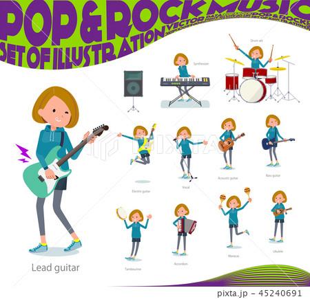 flat type Bob hair women Sportswear_pop music 45240691