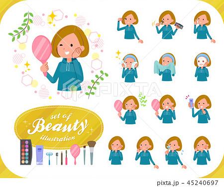 flat type Bob hair women Sportswear_beauty 45240697