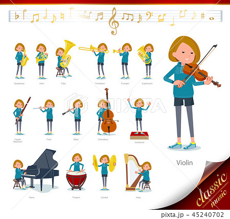 flat type Bob hair women Sportswear_classic music 45240702