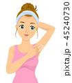 10代 女子 ワキのイラスト 45240730