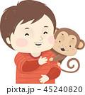 子供 少年 ペットのイラスト 45240820