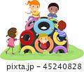キッズ 子供 タイヤのイラスト 45240828