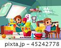 子供 こども達 児童のイラスト 45242778