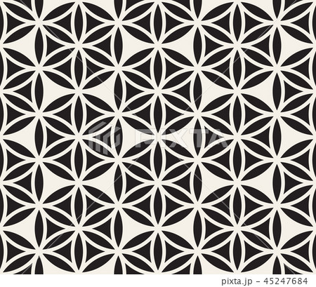 Vector seamless pattern. Modern stylish abstract texture. Repeating geometric tiles  45247684