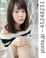 女性 ヘアスタイル 巻き髪の写真 45248251