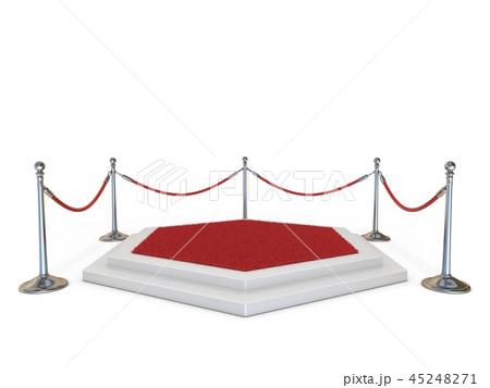 Empty podium with red carpet 3D 45248271