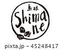 shimane 筆文字 島根のイラスト 45248417