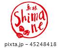 shimane 筆文字 島根のイラスト 45248418