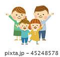 家族 笑顔 親子のイラスト 45248578