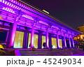 夜 ライトアップ 寺院の写真 45249034