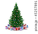 クリスマスツリー クリスマス プレゼントのイラスト 45257891