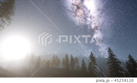 Milky Way stars with moonlight 45259110
