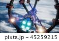 地球 軌道 シャトルのイラスト 45259215