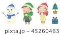 クリスマス 雪だるま ベクターのイラスト 45260463