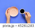 コーヒー 手 カップの写真 45261283