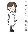 女性 看護師 ナースのイラスト 45262107