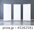 Three Blank roll up banner display 45262581