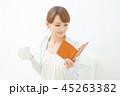 女性 読書 コーヒー 45263382