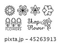 フラワー 花 フローラルのイラスト 45263913
