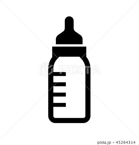 ミルク・哺乳瓶・赤ちゃん アイコン 45264314